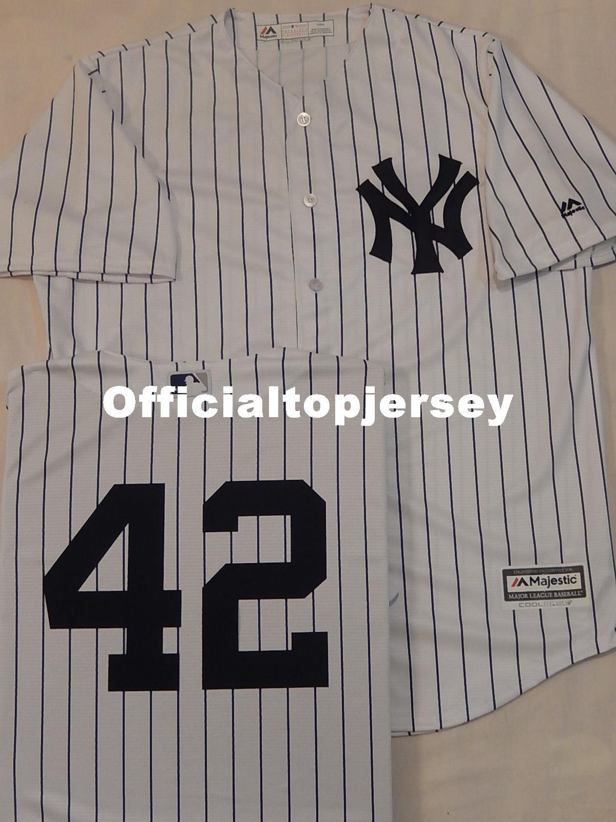 817f47bff Cheap Custom New York #42 MARIANO RIVERA Sewn COOL BASE Shirt Jersey ...