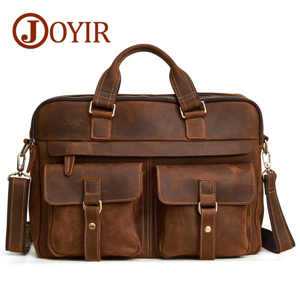 Acquista JOYIR Men Briefcase Vera Pelle Di Cavallo Pazzo Messenger 15 Borsa  Laptop Borse Valigette Documenti Uomo Spalla Borse A  339.85 Dal Lookchill  ... 99b4f3a0a81