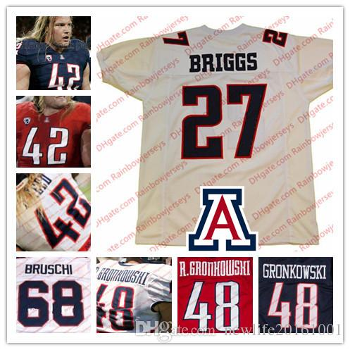 9e909533a 2019 NCAA Arizona Wildcats  27 Lance Briggs 42 Brooks Reed 48 Rob  Gronkowski 68 Tedy Bruschi College Football Jerseys Navy Blue Red White S  4XL From ...