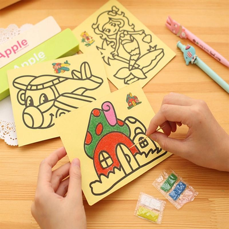 2019 Wholesale Kids Diy Color Sand Painting Art Creative Drawing