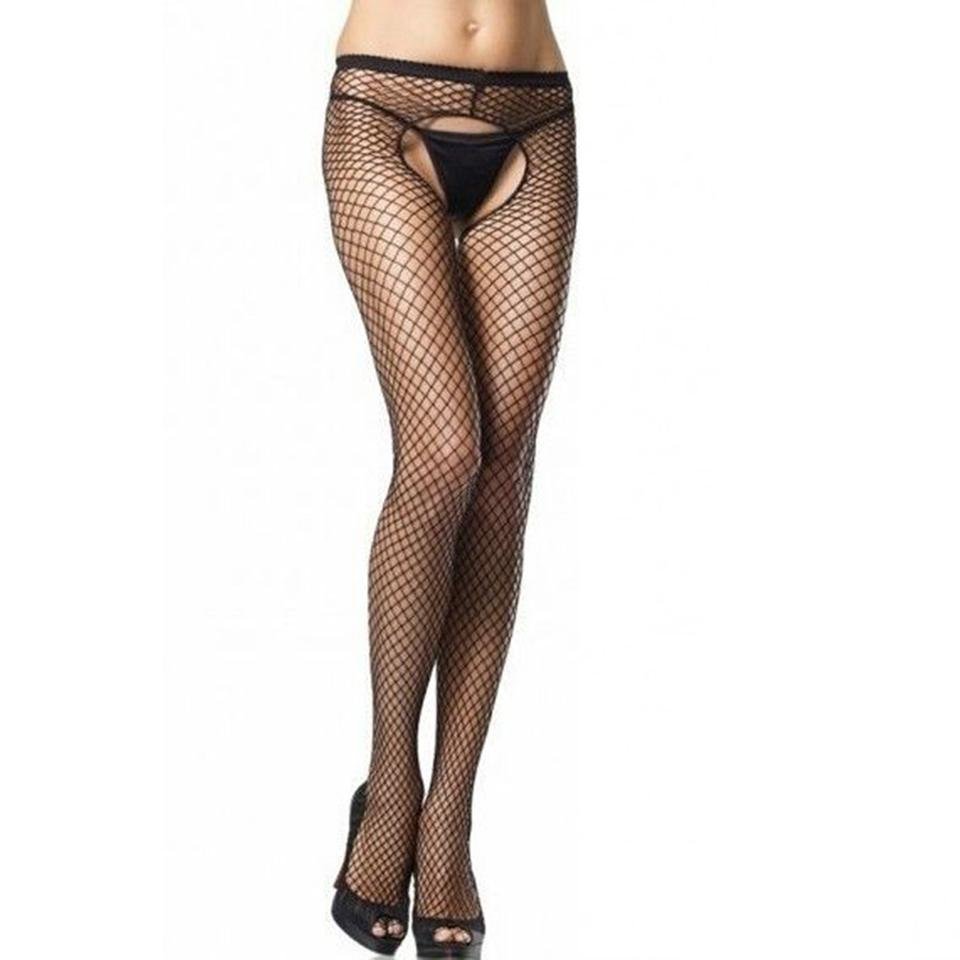 5b721e876 2019 Sexy Fishnet Tights Women Elastic Pantyhose Hollwo Out Crotchless  Tights Ladies Open Crotch Collant Femme From Bishops, $20.72 | DHgate.Com