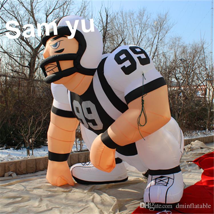 Figura inflável alta do gramado do jogador de 2.5m / jogador inflável do bubba para advertiising