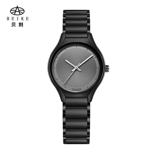 983e1514167f8 Compre BEIKE 6057L 2018 Nova Moda Floral Design Preto Caso Japão Pulseira  Relógios De Pulso Das Mulheres De Quartzo Relógio Das Mulheres Relogio  Feminino De ...