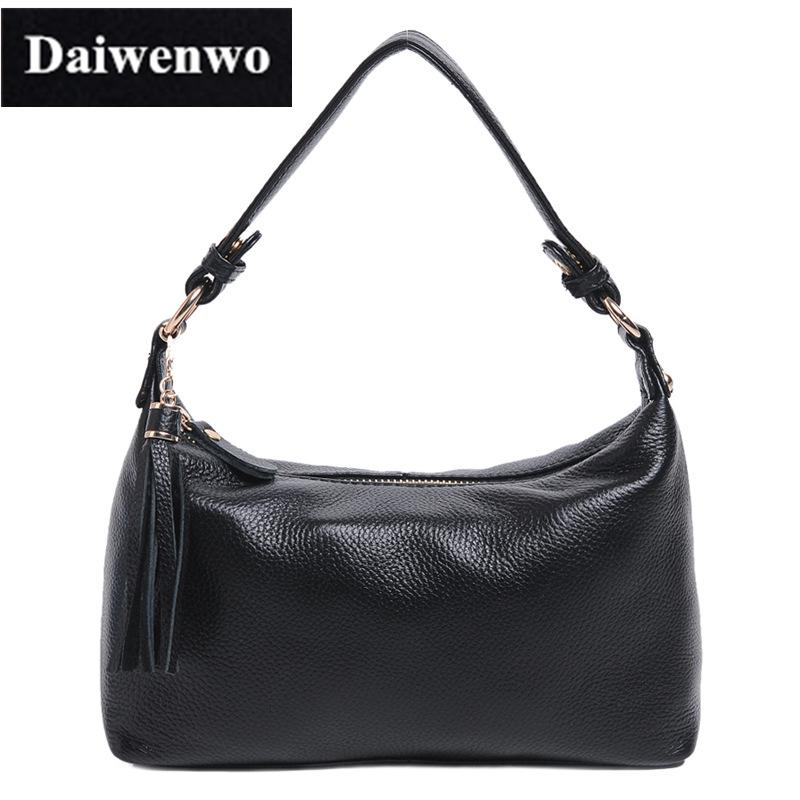 4cfc8d4c0e J05 Brand Women Natural Skin Shoulder Bags Hobos Tassel Handbags For Women  Black Brown Genuine Leather Ladies Messenger Bags Cute Purses Name Brand  Purses ...