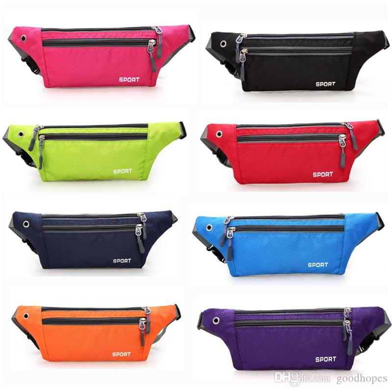 9c206099e2b212 Waterproof Fanny Pack Bum Bag Fitness Running Outdoor Sports Waist Bag  Beach Travel Bags With Earphone Hole Waist Belt Pouch Purses Cheap Handbags  Messenger ...