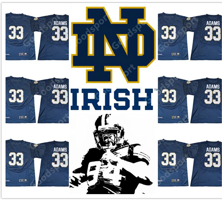 new ncaa notre dame fighting irish college adams 2017 stitched jersey football sport fashion hot sale 2018 christmas day hot sale cheap men christmas day - Christmas Day College Football