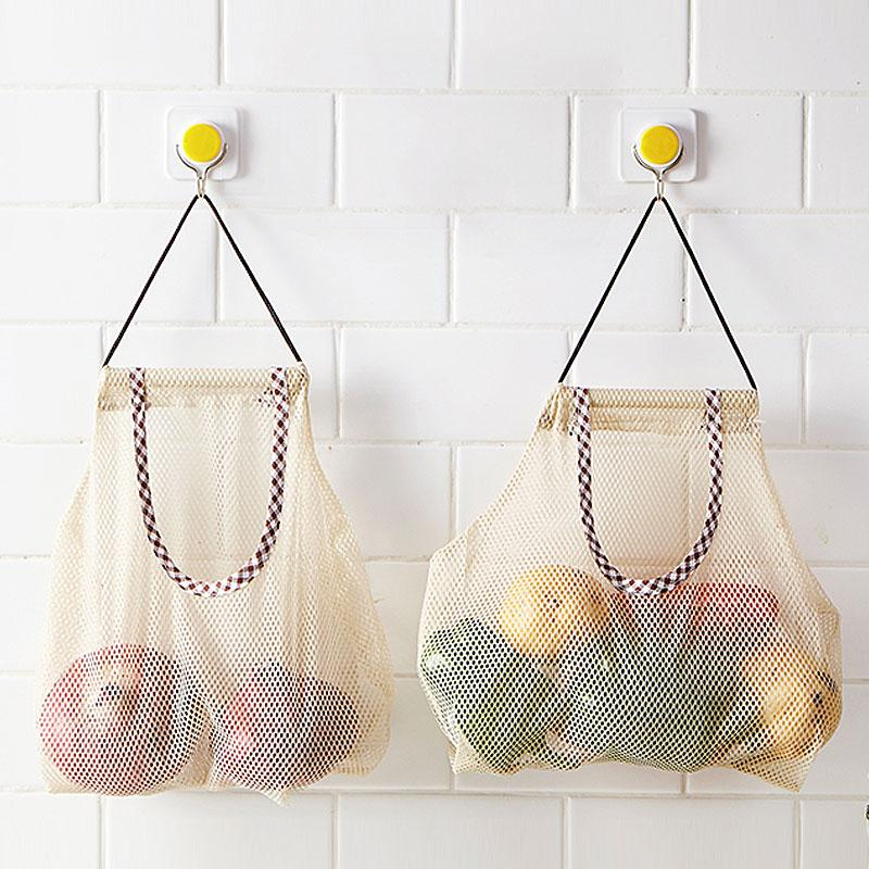 4bcf4a176a6 2019 Fruit Vegetable Big Size Hanging Storage Bag Breathable Mesh Bags  Organizer Kitchen Accessories From Kuaikey, $28.68 | DHgate.Com