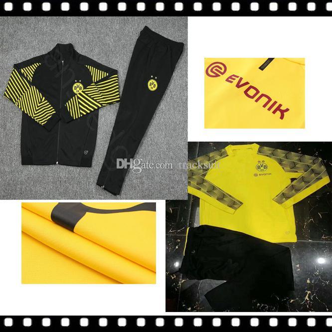 Compre 2018 19 Borussia Dortmund Conjunto De Chaqueta De Chándal Conjunto  De Hombres De Manga Larga Traje De Entrenamiento Pantalones De Fútbol  Borussia ... 58a96e75816c9