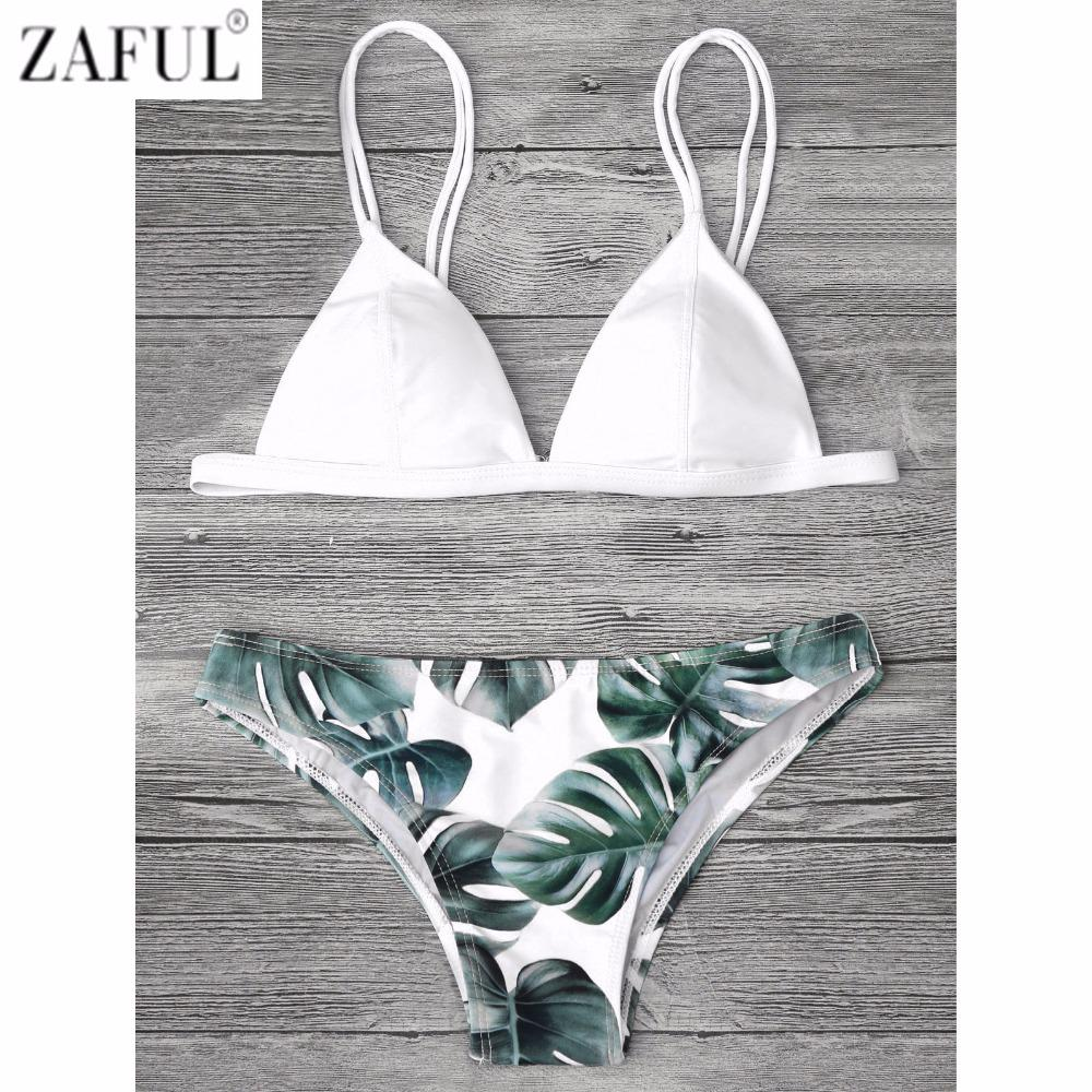 745c307956 2019 Zaful Sexy Brazilian Bikini Set Swimwear Women Swimsuit Bathing Suit  Cami Palm Leaf Print Biquini Swim Suit Maillot De Bain From Sport2017, ...