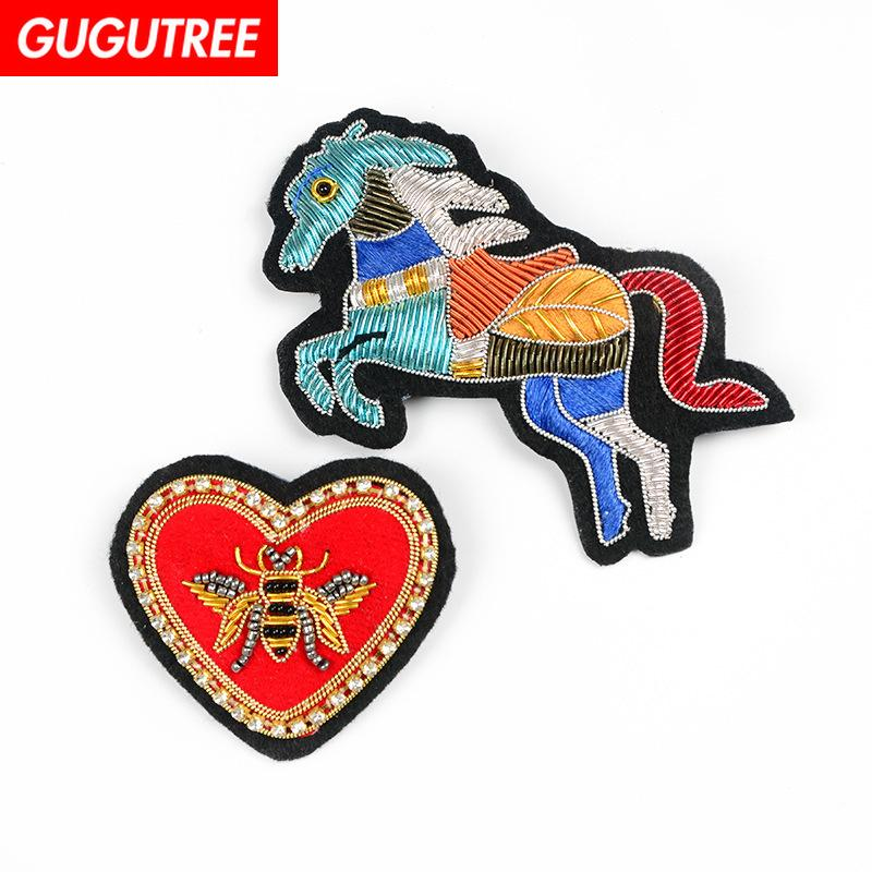 379043cac2b 2019 GUGUTREE India Wire Love Heart Patches