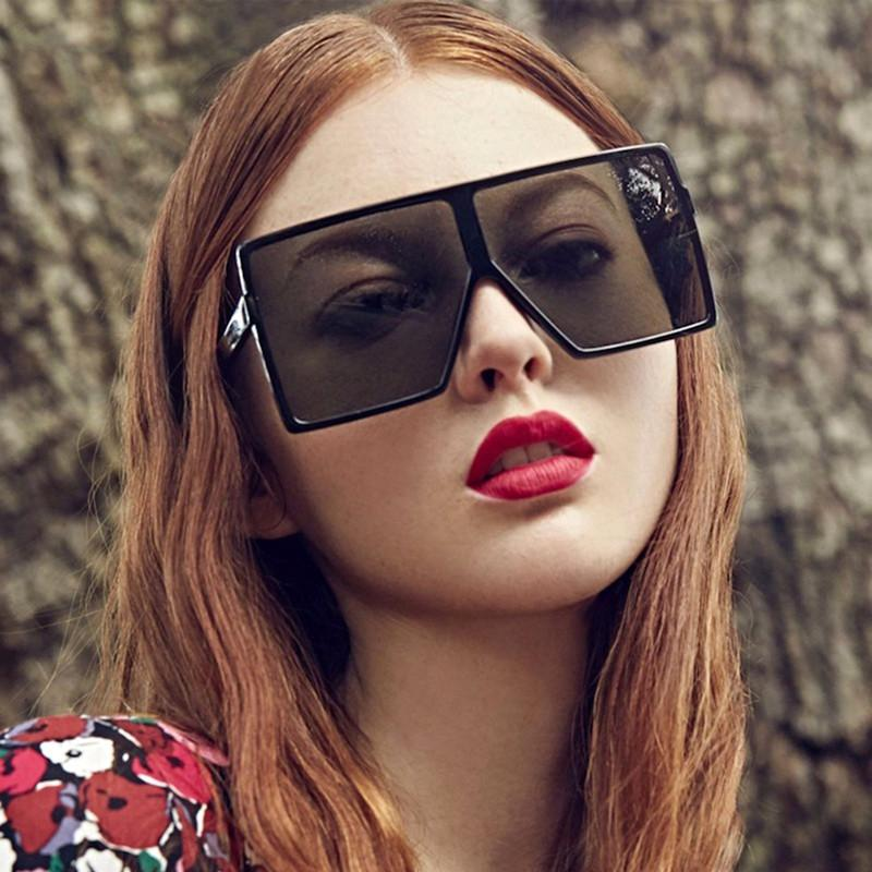 511c9a2ddf8 SOZO TU 2018 Flat Top Oversized Square Frame Shield Style BETTY Sunglasses  Women Trend Brand Design Sun Glasses Oculos De Sol Prescription Glasses  Sunglass ...