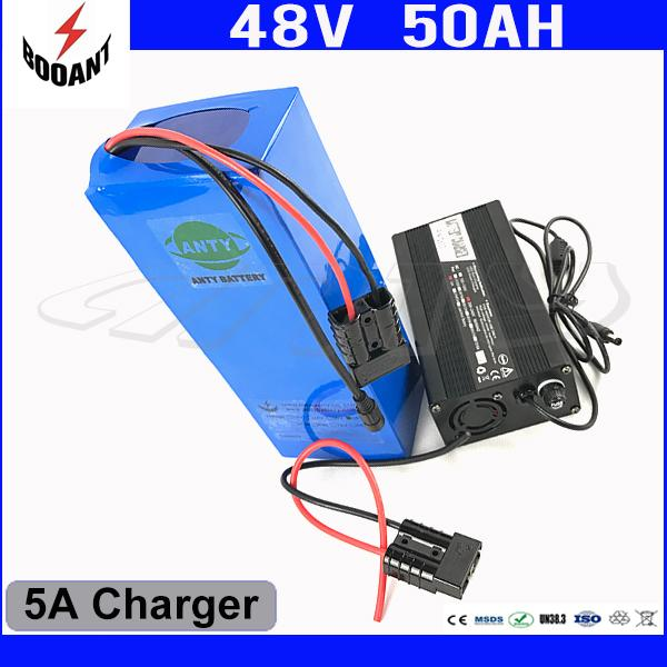 e-Bike Battery 48V 50Ah 1800W For Bafang Motor Electric Bicycle Battery 48V With 5A Charger 50A BMS Lithium Battery Pack 48V