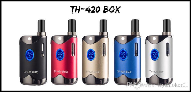 Toque bud e cigarro vaporizador mod 510 thread bobina de cerâmica cartucho de vidro vaping mod variável tensão de fumar 420 e fumar mod kit