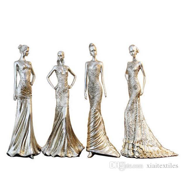 4style Women's creative home accessories furnishings resin crafts Wedding clothing store decorations ornaments Female mannequin C547