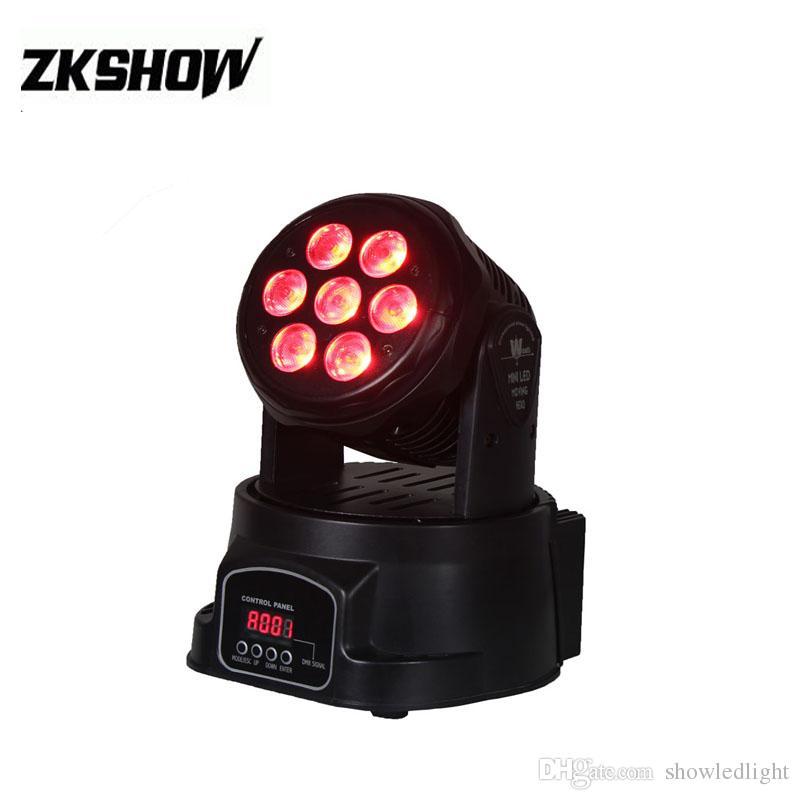 ac77520b5b7 Compre Luces 7 * 10W Beam Wash LED Cabeza Móvil RGBW DMX512 DJ Disco Party  Boda Equipo Profesional De Iluminación De Escenario 230 V Envío Gratis A  $85.43 ...