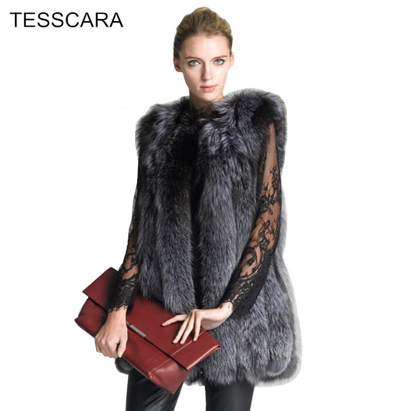 Women Autumn   Winter Fashion Fur Vest Waistcoat Female Faux Fur ... 46db550c7