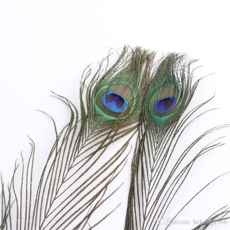 Natural Peacock Feather Real Tail Feathers For Wedding Party Table Decorations Supply 25 To 30CM Multi Color 0 57yx Z