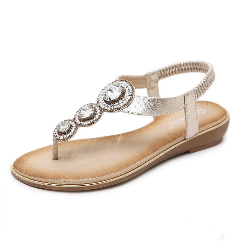 99f59c2fae9 High Quality Rhinestone Designer Sandals For Women Latest Fashion Flat  Shoes Designer Flip Flops On Sale Reef Sandals Gold Shoes From Cherishu