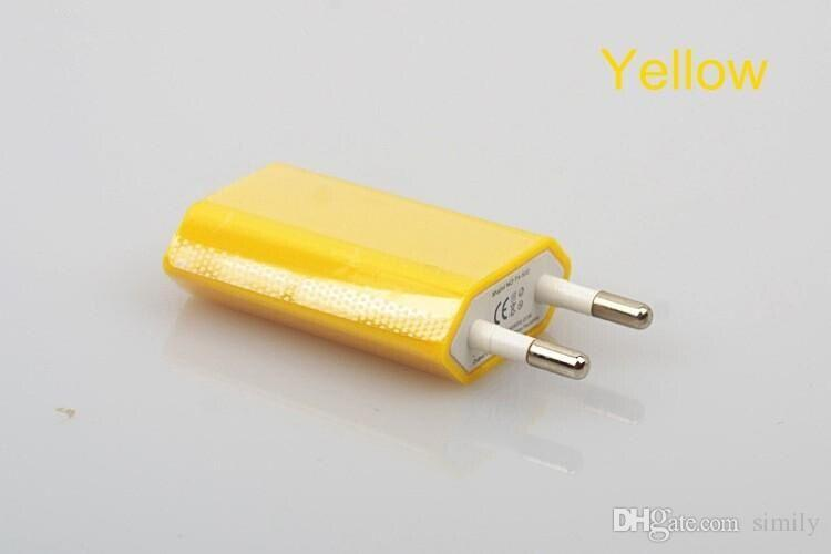 5V 1000mah Colorful EU US Plug USB Wall Charger AC Best Power Adapter Home Charger for iphone Samsung Galaxy