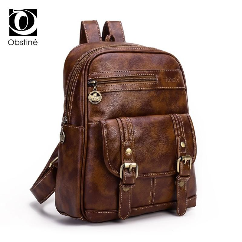 Women PU Leather Backpacks for Teenage High Quality Bagpack Woman ... 36fff81d5acf3