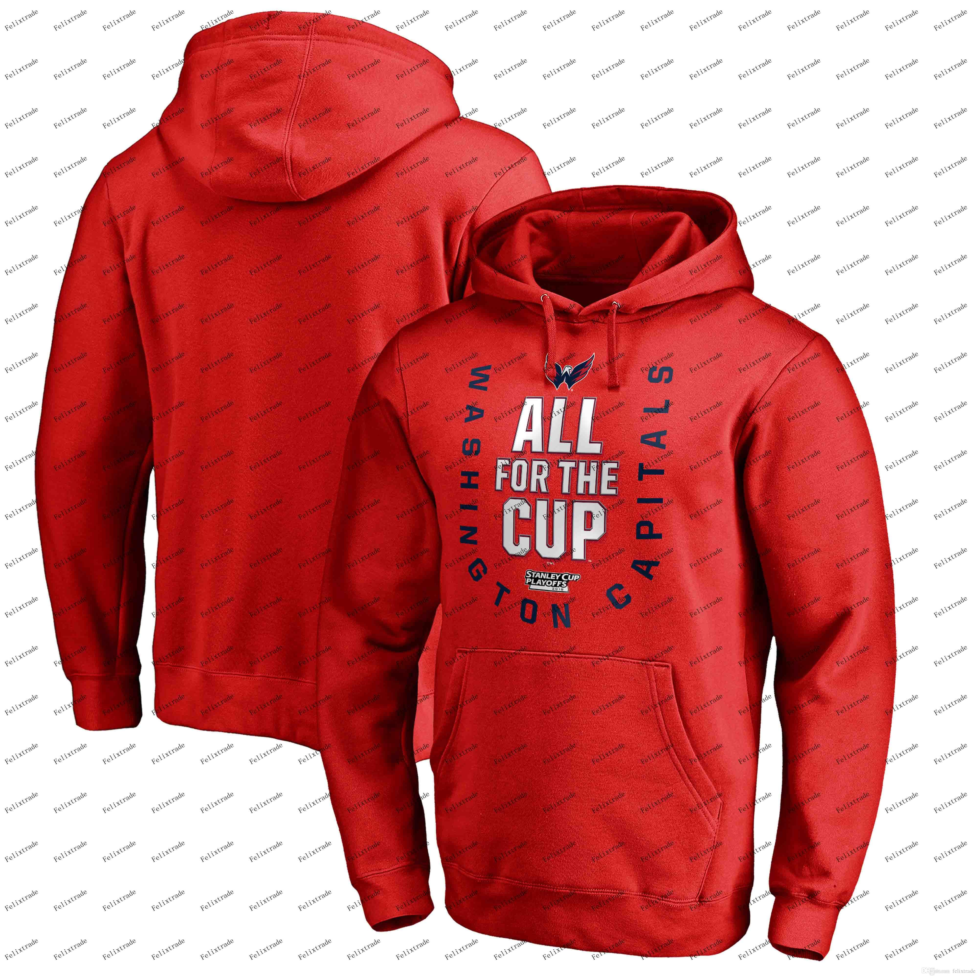 Washington Capitals 2018 Stanley Cup Playoffs Hoodie Men Women Youth Red  Bound Behind The Net Pullover Sweatshirts UK 2019 From Felixtrade 966a22228
