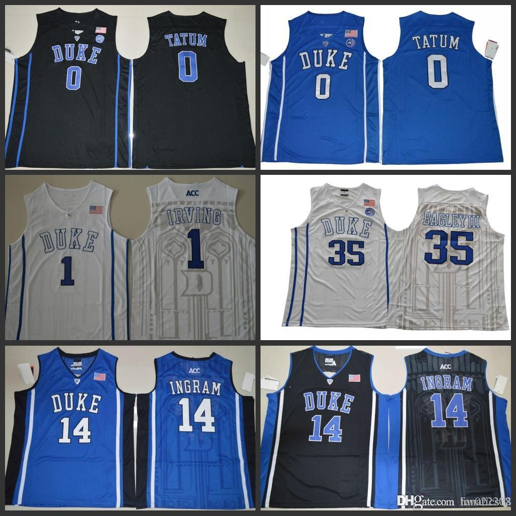 aba07bcbbb26 NCAA Duke Blue Devils College Basketball Jerseys 0 Jayson Tatum 1 Kyrie  Irving 14 Brandon Ingram 35 Marvin Bagley III Online with  17.49 Piece on  ...