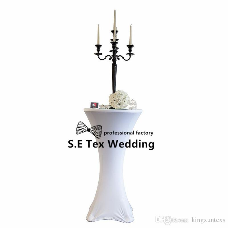 Factory Price Cocktail Table Cover \ Lycra Spandex Table Cloth For Wedding Event Decoration