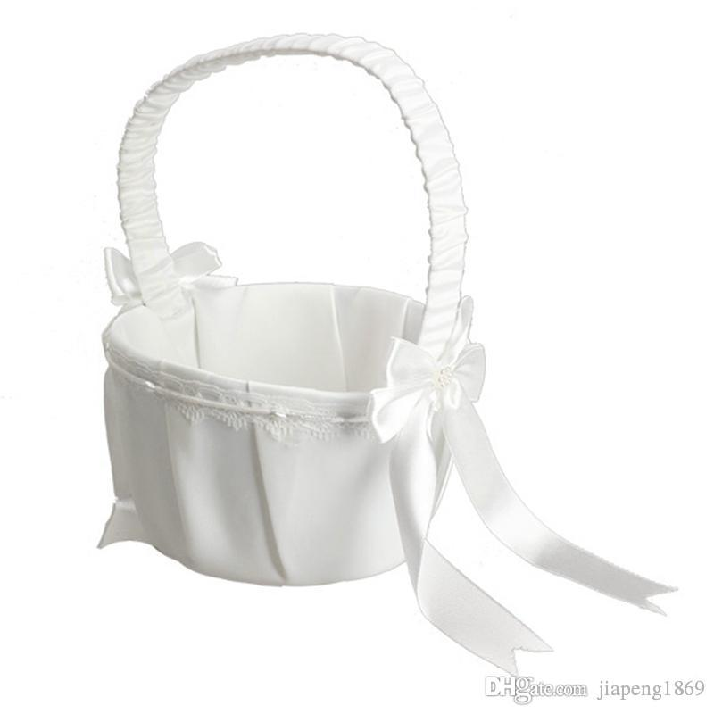 How to make a bow for flower girl basket