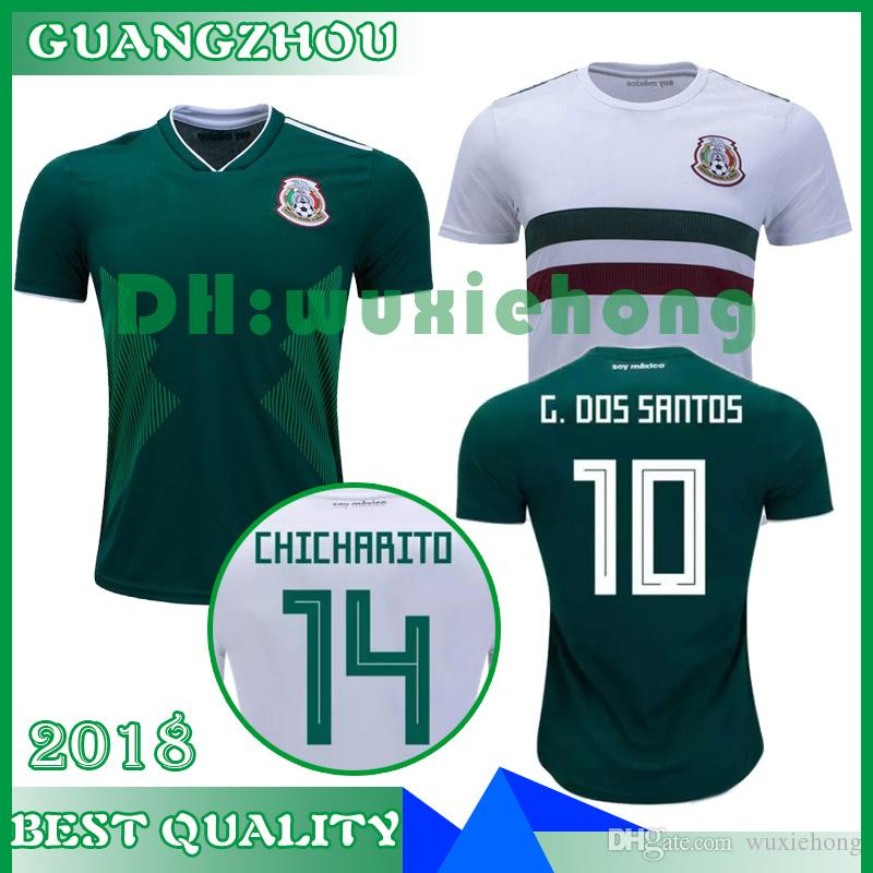 2019 Thailand MEXICO SOCCER JERSEYS 17 18 19 World Cup CHICHARITO LOZANO  DOS SANTOS HERRERA LAYUN Mexico Green Football Shirt Camisetas De Futbol  From ... b950d633eaa19