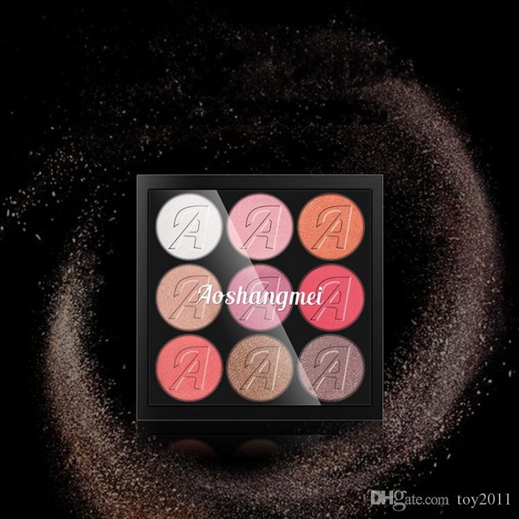 Новый AOSHANGMEI матовая палитра теней для век 9 цвет красоты палитры теней для век макияж розовый девять цветовая палитра кофе молотый тени для век