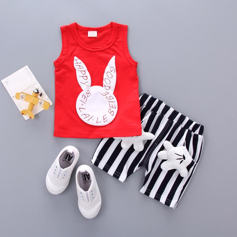 3376419461c43 2018 New Fashion And Leisure Products Kids Clothes Are Hot Summer Children  Cotton Cartoon Design Rabbit Vest Boys And Girls Cute