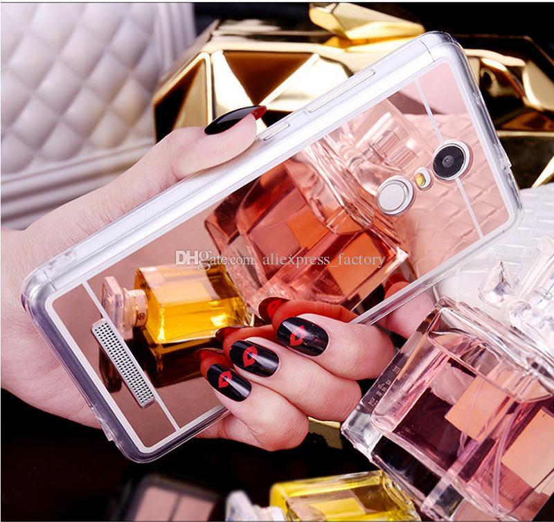 Xiaomi Mi 9 SE Lite 6X En 3 Karışım 2S F1 redmi için Not glitter Moda Ayna Kaplama Kapak Akrilik Yumuşak TPU Kılıf 8 7 Pro 6 6A 7A K20