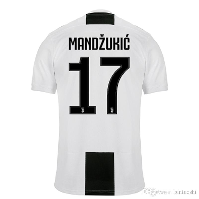 huge selection of 9447d f0fd8 New 18 19 MANDZUKIC Soccer Jersey Men JUVENTUS Football Shirt RONALDO  Maillot de foot MANDZUKIC Champions League Jerseys