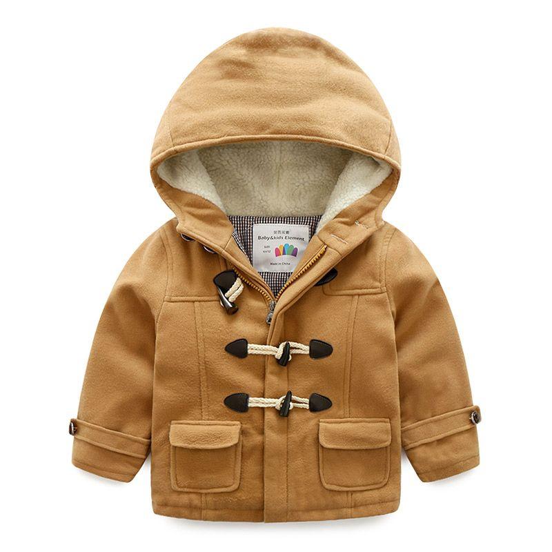 94593f6f2 Baby S Horn Button Jacket 2018 Winter Dress New Boys  Children S ...