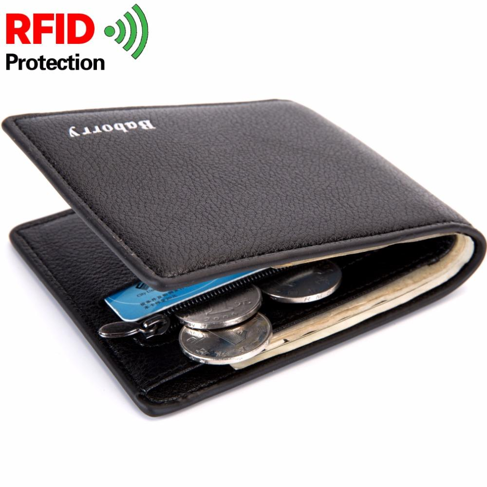 2a2d53813ce9 With Coin Bag Zipper RFID New Men Wallets Thin Mens Wallet Small Money  Purses Wallets New Design Dollar Price Slim Men Wallet