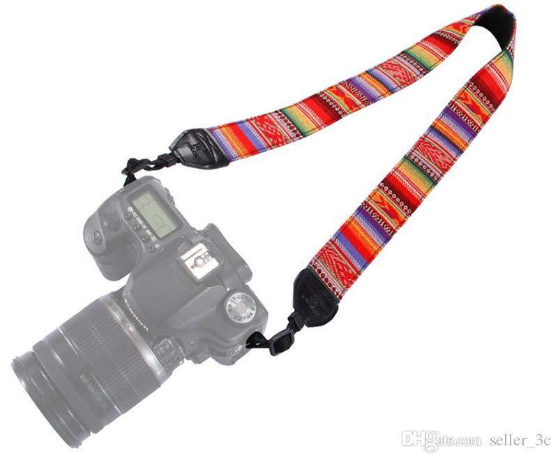 New Colorful Vintage Style Canvas Camera Shoulder Neck Strap Belt for Nikon Canon Sony DSLR Camera 17122601