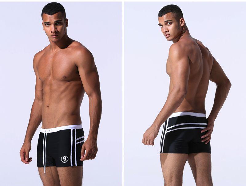 Maillots de bain Hot Hommes respirants Maillots de bain Homme Naim Towns Boxer Boxer Sunga Swim Costumes Maillot de Bain Beach Shorts
