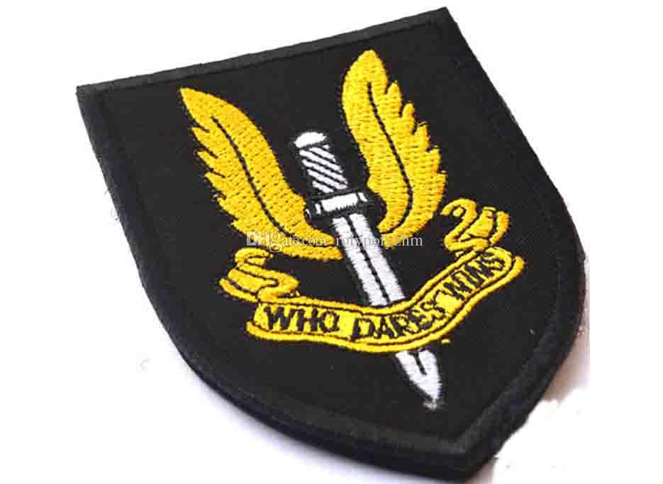 New British Air Corps SAS High Quality Delicate 3D Embroidery Badge Clothing Backpack Bag Cap Sewing Applique Stimulate Morale Armlet Patch