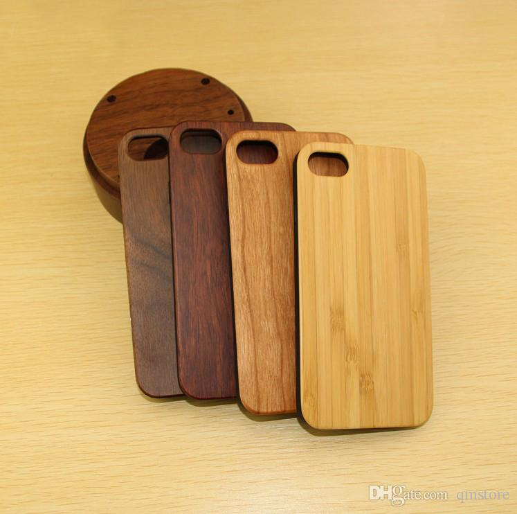 Real Wood TPU Phone Case For Iphone X 7 8 plus 6 6s Hard Back Cover Wooden Bamboo Cases For Samsung Galaxy S7 S7EDGE S8 Note8