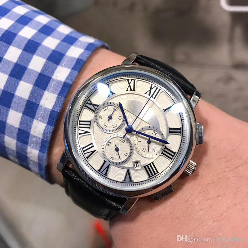2018 Top Quality Blue Balloon Watch Stainless Steel Luxury Casual Wris Ch Famousnd Quartz Watch Male Clock Fashion Sports New Watches Blue Balloon