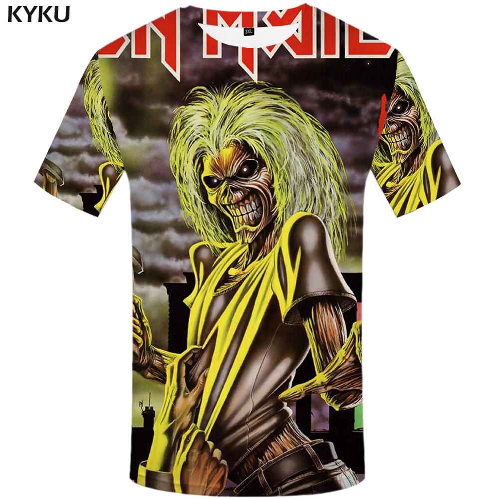 Wholesale-KYKU Brand T-shirt band T shirt music Tshirt Skull shirts ghost Tee Gothic hip hop clothes 3d t shirt men 2017