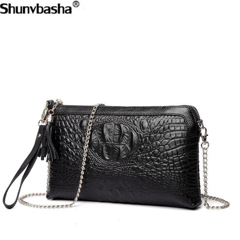8321140ae5 Genuine Leather Handbags 2018 New Fashion Big Chain Shoulder Bags Luxury Tassel  Womens Messenger Bags Retro Cowhide Female Bag Leather Purse Womens Purses  ...