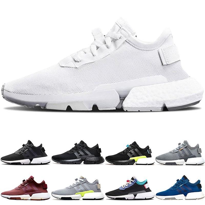 new style 122df 5ca50 Adidas Originals P.O.D S3.1 Boost P.O.D S3.1 System Hombre Mujer Deporte  Zapatillas De Deporte Triple Negro Blanco Azul Pod S3.1 Tenis Moda  Zapatillas De ...