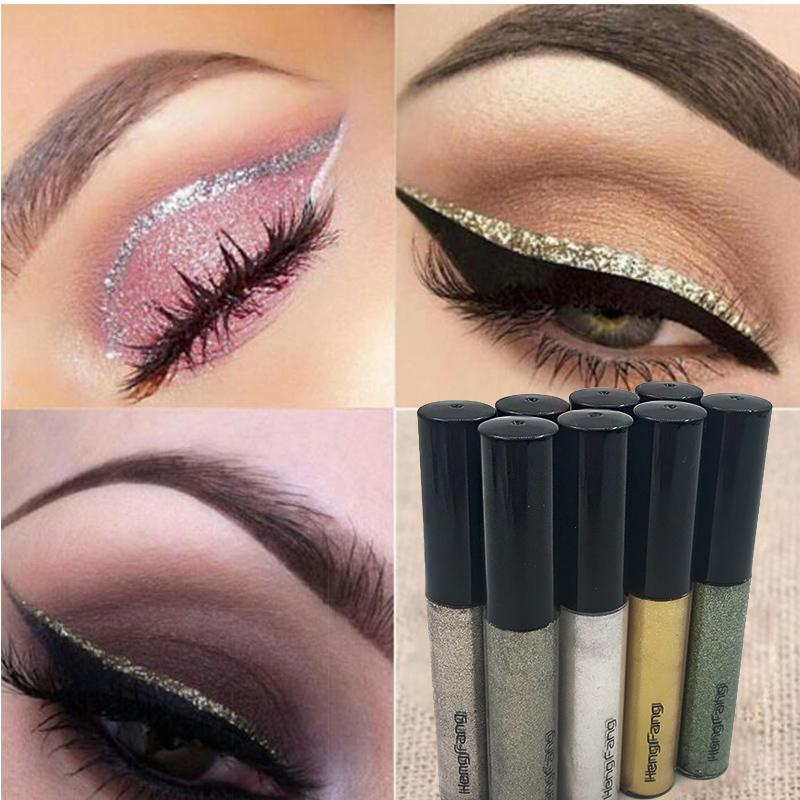 Handaiyan Glitter Eyeliner Set Liquid Eyes Liner With Cat Eye Seal Eyeliner Stamp Waterproof Makeup Maquiagem Shiny Cosmetics Beauty Essentials