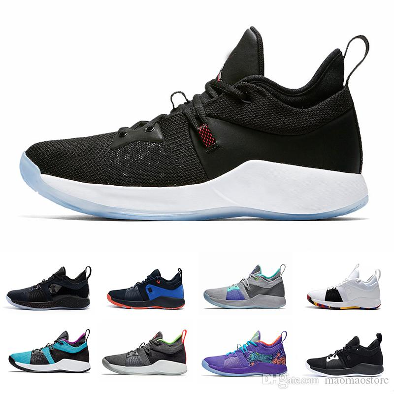 new arrival 8d13a 97b84 The Bait II Taurus Paul George PG 2 Basketball Shoes OKC Home PG2 2S Hot  Punch Mamba Mentality Pure Platinum Sports Sneakers 40-46