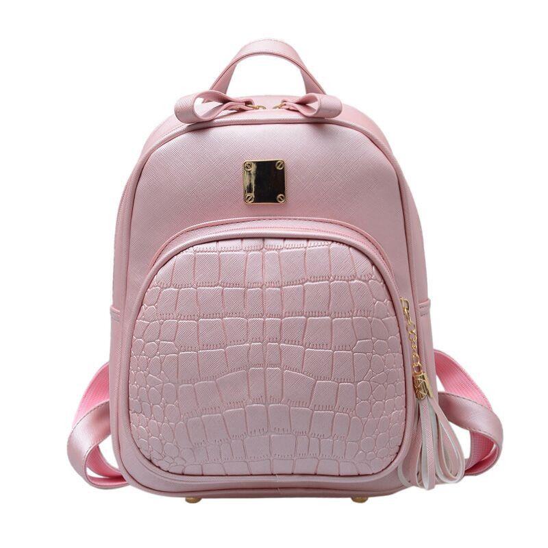 96f9197f3c New Arrival Women Backpacks PU Leather Shoulder Bag Crocodile Pattern Small  Lady Backpack Embossed School Bags For Girl Teenager Back Pack Mochilas  Jansport ...