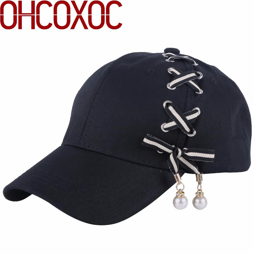 New Design Women Hat Cute Cap Handmade Tape Pear Beads Design Solid Black  Adjustable Size Female Girl Novelty Baseball Caps Zephyr Hats Kids Hats  From ... 86e38f2065d