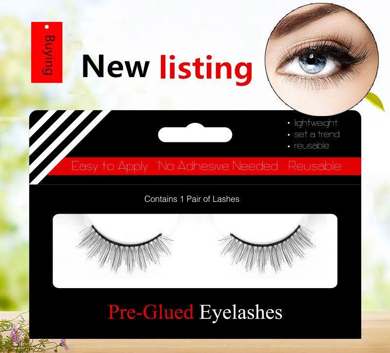 New Listing 4 Style Glue Free 3d Eyelashes Supernatural Lifelike Handmade False Eyelash 3d Lashes Reusable Eyelashes