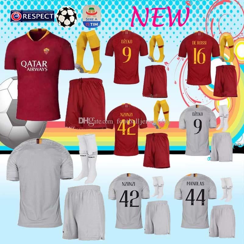 e15836c36 Player Version 2019 TOTTI Roma Home Red Soccer Suit 18 19 A.S.Roma ...