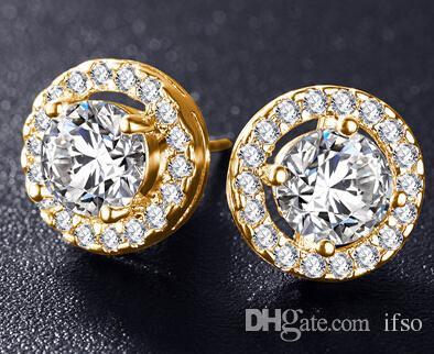 e893359e8e433 Romantic Jewelry Stud Earrings For girl friend Wedding Elegant Silver Color  AAA Cubic Zirconia Stone Earring CER0002-B